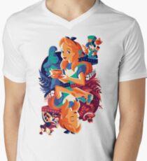 Alice in Wonderland Men's V-Neck T-Shirt