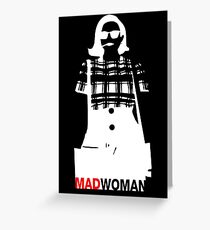 Mad Woman Greeting Card