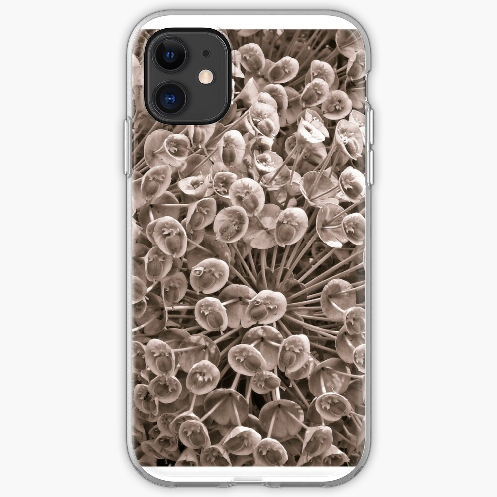 Sepia Nature Pattern iPhone Case & Cover