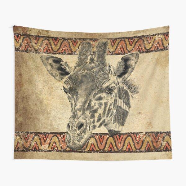 Serengeti Giraffe Tapestry