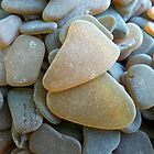 Honey Amber Sea Glass Pieces and Brown Pieces by Teresa Schultz