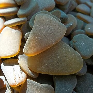 Sunlit Brown and Honey Amber Sea Glass Pieces by TerryArts
