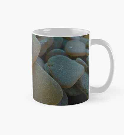 Sunlit Brown and Honey Amber Sea Glass Pieces Mug