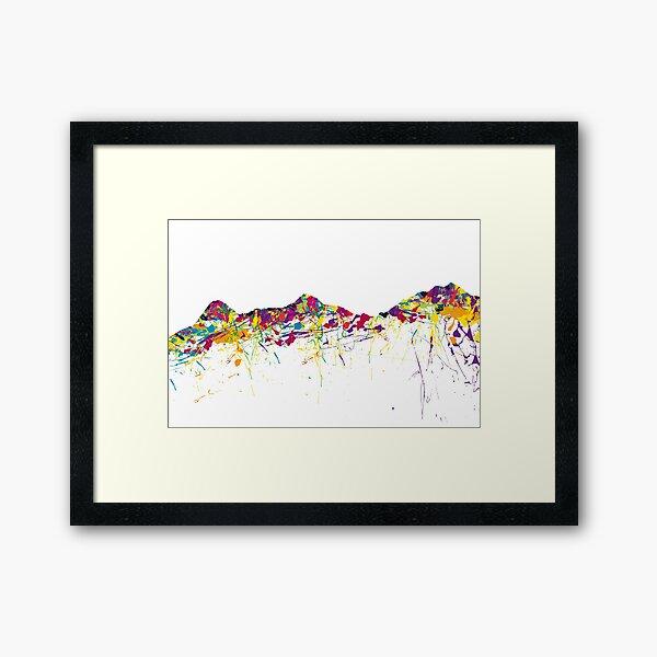Eiger/Mönch/Jungfrau SWISS mountainsplash Framed Art Print