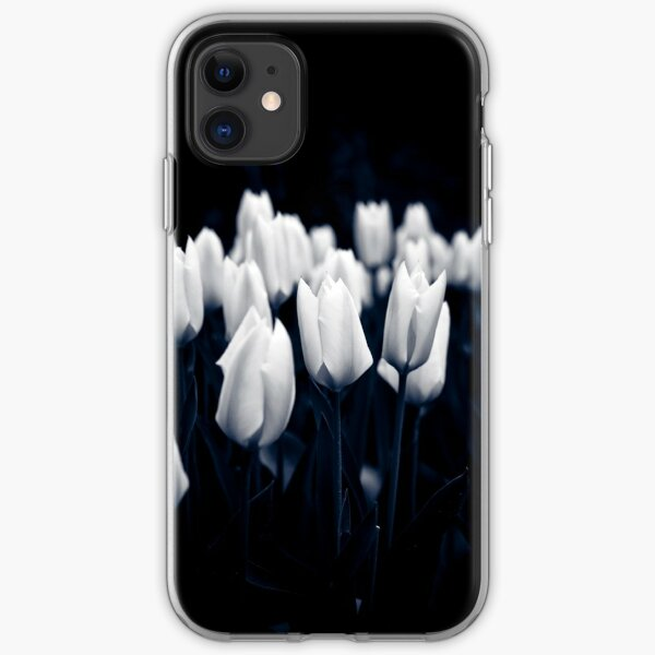 Monochrome Tulips iPhone Soft Case