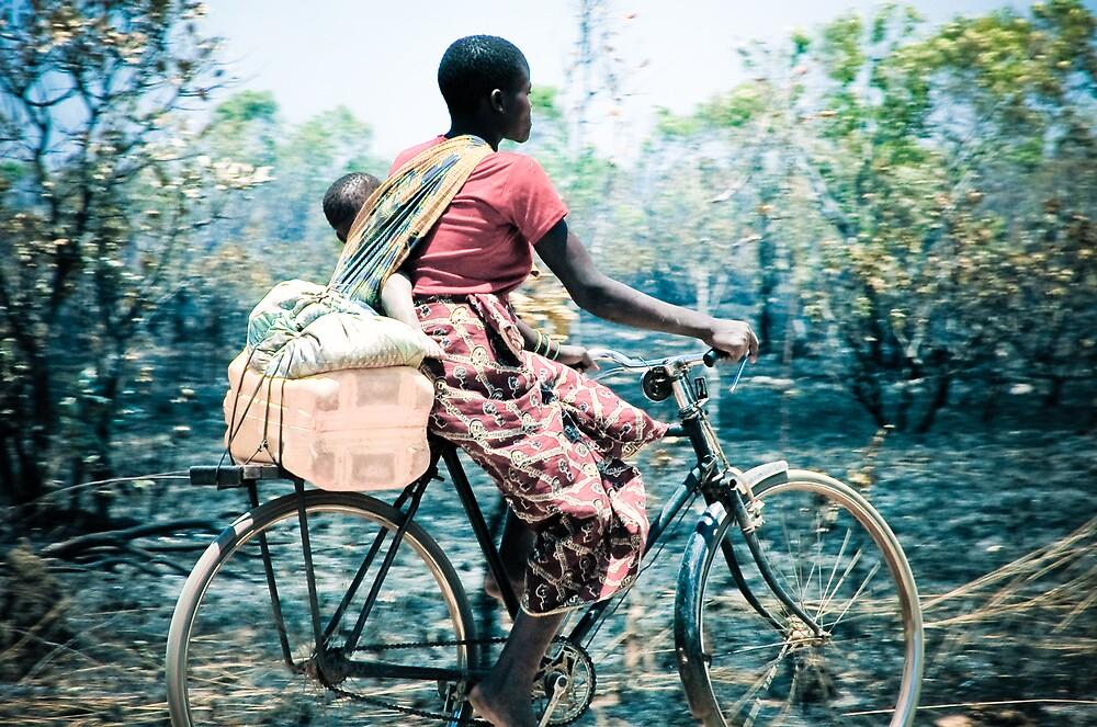 Biking Mom, Mozambique by Tim Cowley