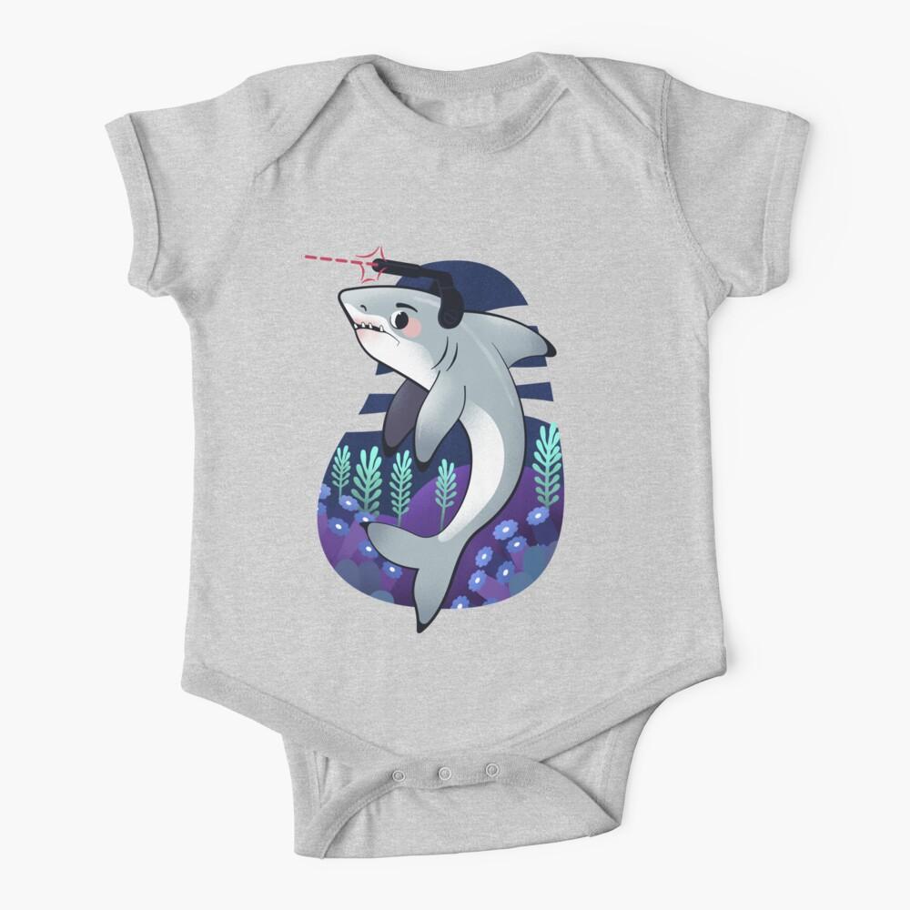 Baby Onesies Shark Bites Pizza 100/% Cotton Baby Jumpsuit Cute Short Sleeve Bodysuit