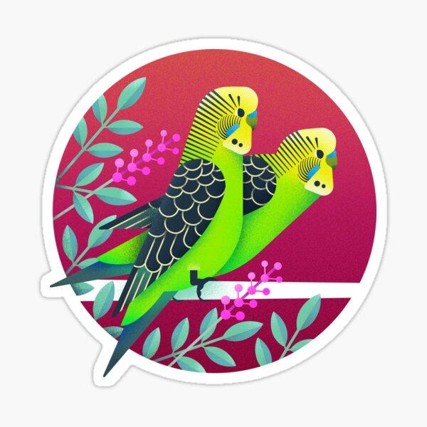 Wild Australian Budgerigars Sticker
