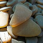 Sunlit Brown and Honey Amber Sea Glass Pieces by Teresa Schultz