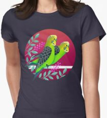 Wild Australian Budgerigars Women's Fitted T-Shirt