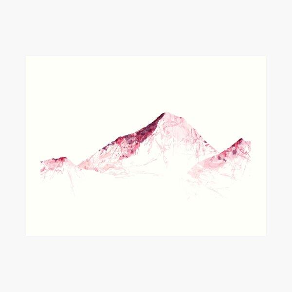 MOUNT EVEREST mountainsplash pink Art Print