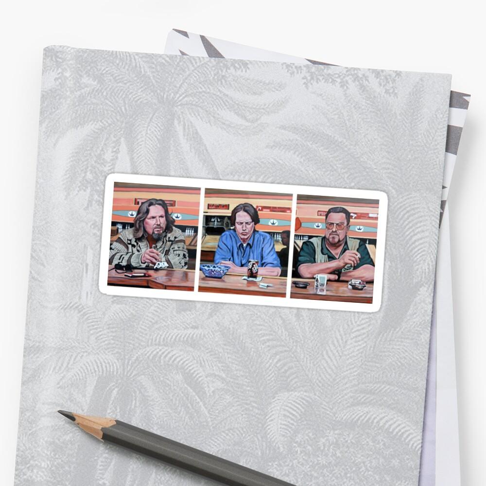 Lebowski Triptych Sticker Front