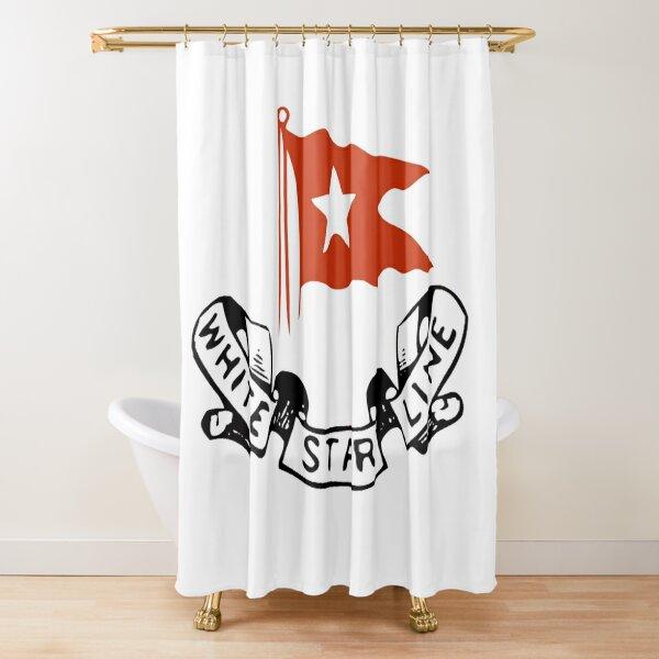 White Star Line, Logo. Titanic. Shower Curtain