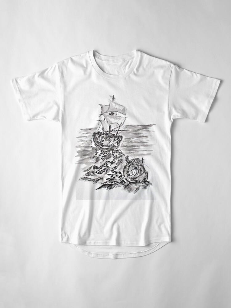 Alternate view of Escape Three Skeleton Key 3 of 4 Long T-Shirt