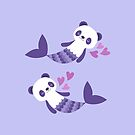Cute purple merpandas by petitspixels