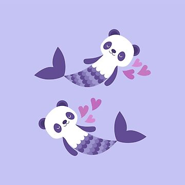 Cute purple merpandas by petitspixels