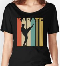 Retro Style Karate Martial Arts Women's Relaxed Fit T-Shirt