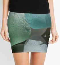 Sea Foam Green and Turquoise Sea Glass Mini Skirt