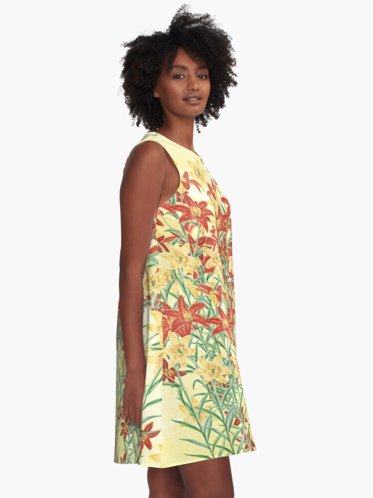 Alternate view of Spring floral A-Line Dress