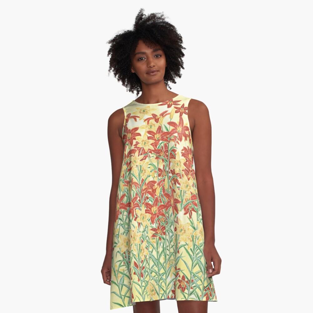 Spring floral A-Line Dress