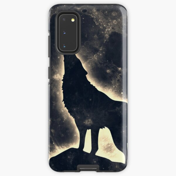 Wolf, moon, fantasy, wild, dog, wolves Samsung Galaxy Tough Case