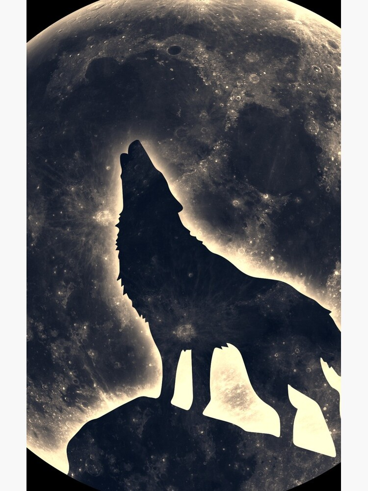 Wolf Vollmond Mond Space Wicca Pagan von boom-art