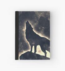 Wolf Vollmond Mond Space Wicca Pagan Notizbuch
