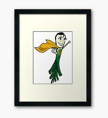 SUPERLAUCH - Leek Super Hero Veggie Geek Nerd  Framed Print