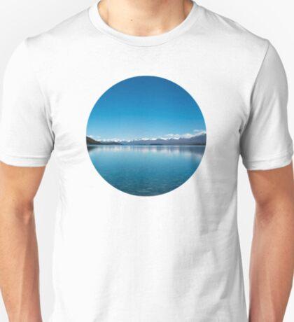 Blaue Linie Landschaft T-Shirt