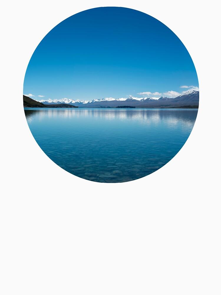 Blaue Linie Landschaft von josemanuelerre