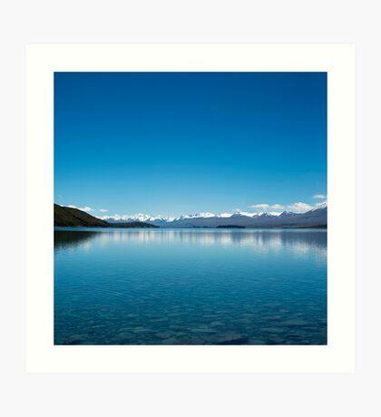 Blaue Linie Landschaft Kunstdruck