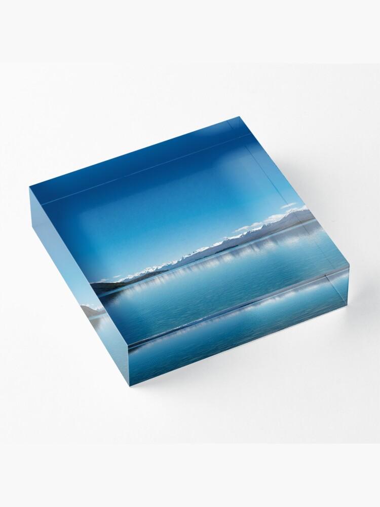 Alternative Ansicht von Blaue Linie Landschaft Acrylblock