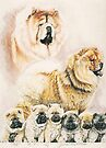 Chow Chow with Pups by BarbBarcikKeith