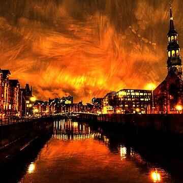Hamburg Nightlights by FrauleinimStall