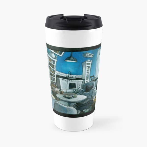 Blue Saturday Morning Travel Mug