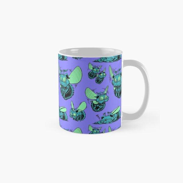 Pug Bees - Blue/Green Pattern Classic Mug