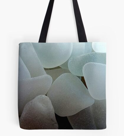 Shades of White Sea Glass Tote Bag