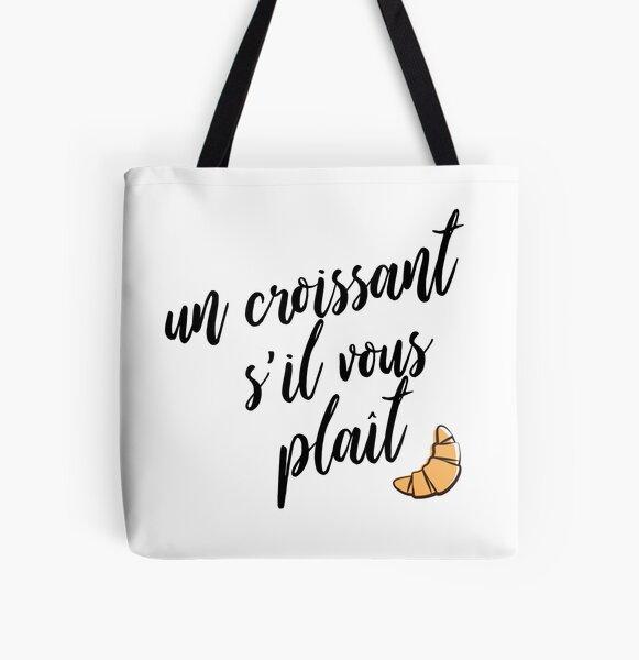 Un Croissant S'il Vous Plaît Tote bag doublé
