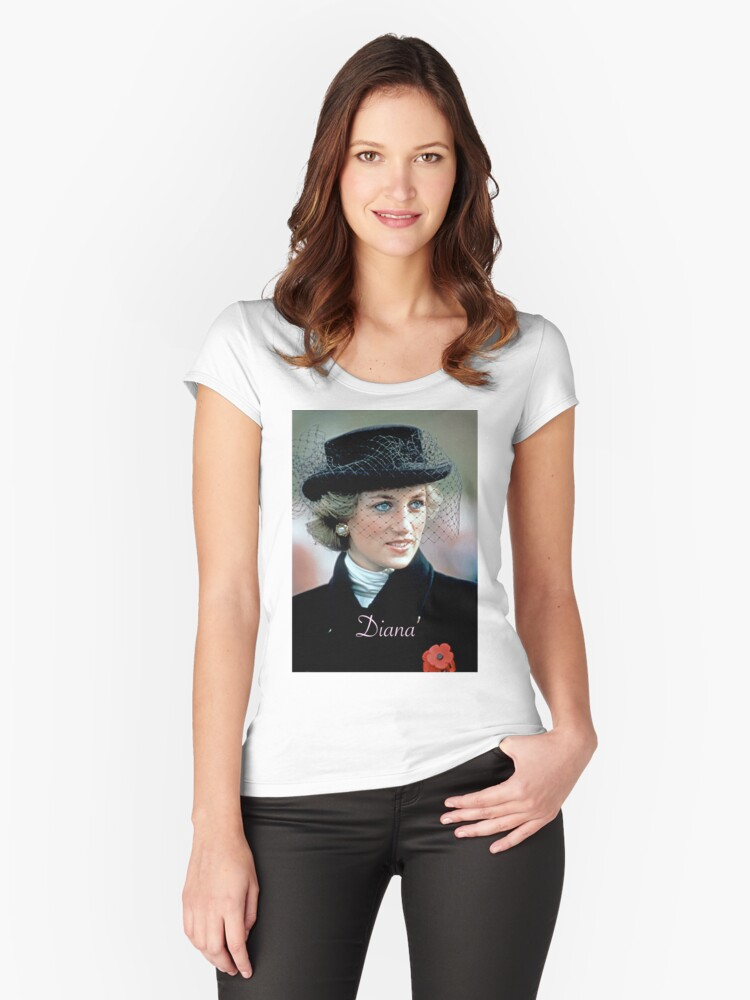 HRH Princess Diana France 1988 Women's Fitted Scoop T-Shirt Front