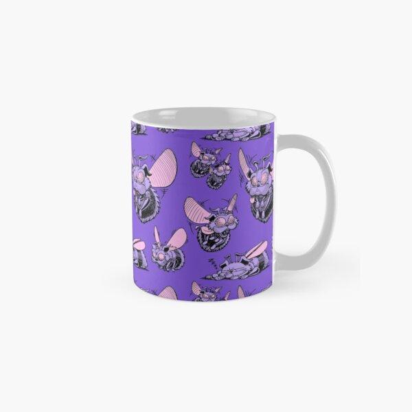 Pug Bees - Orange Pattern Classic Mug