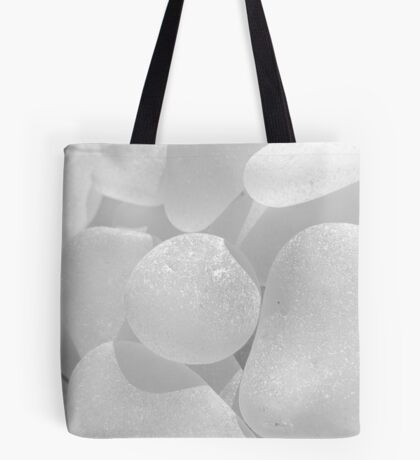 White Sea Glass Pale and Simple Tote Bag
