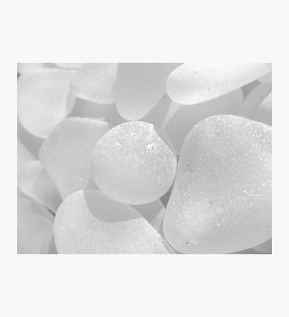 White Sea Glass Pale and Simple Photographic Print