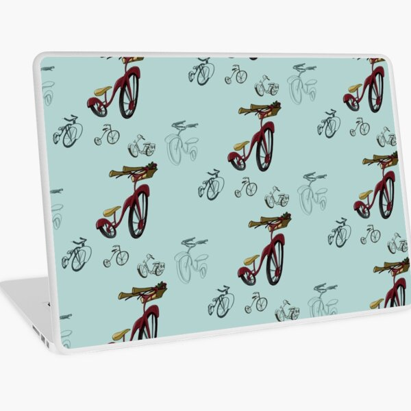 Quirky Bicycle with Basket  Laptop Skin