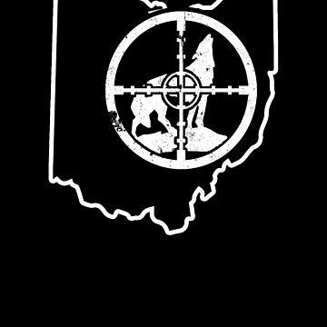 Smokin Yotes Ohio Coyote Guide Shirt Coyote Calling by shoppzee