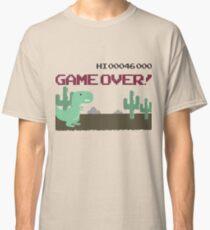 Gameover Dinosaur Classic T-Shirt