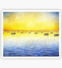 Favourite Artist - Paul Signac - Sardine Fishing Sticker