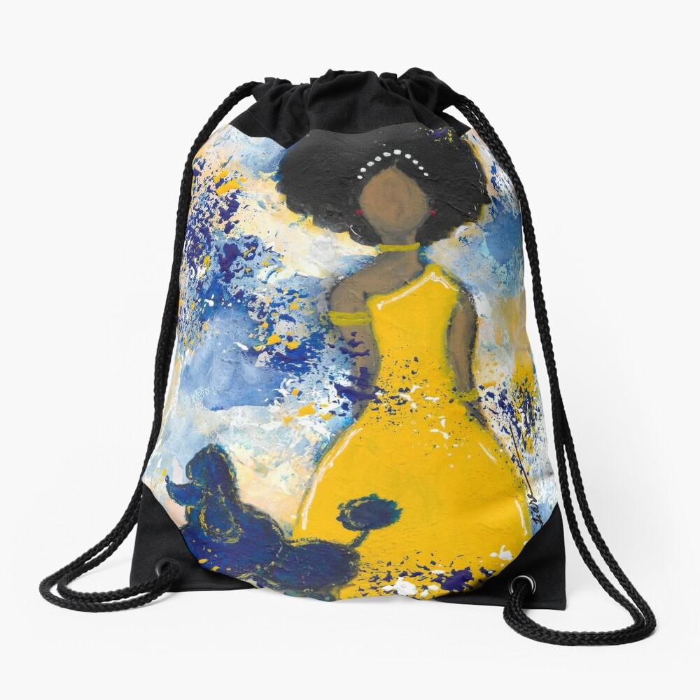RHOyal Angel Drawstring Bag Front