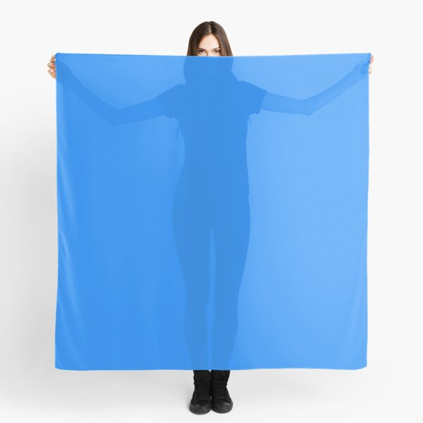 Cheap Solid Bright Dodger Blue Color  Scarf