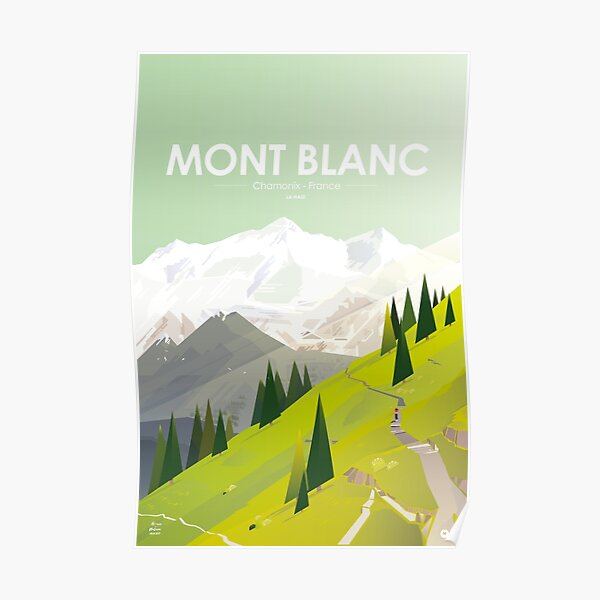 Alone In Nature - 06 - Mont Blanc France - Là Haut Poster