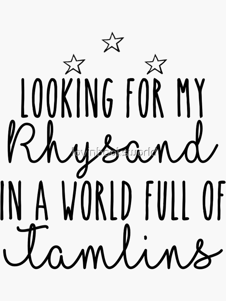 Looking for my Rhysand in a world full of tamlins by lovinbooksworld